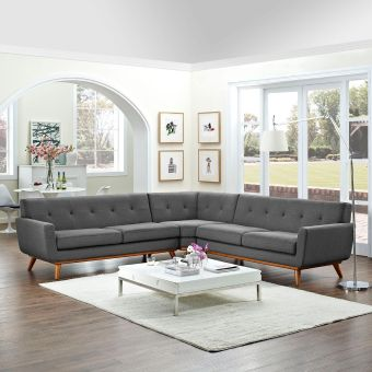 Engage L-Shaped Sectional Sofa (Gray)