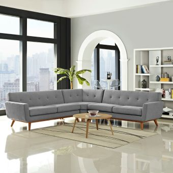 Engage L-Shaped Sectional Sofa (Expectation Gray)