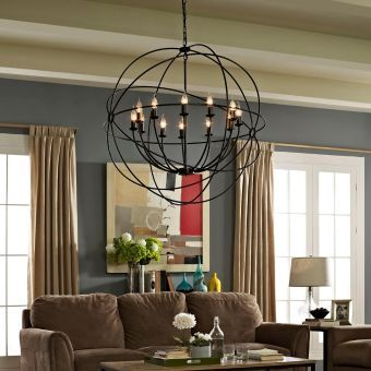 "Atom 39.5"" Chandelier (Brown)"