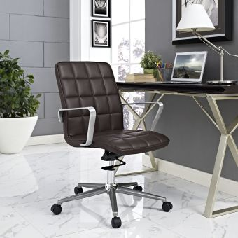 Tile Office Chair (Brown)