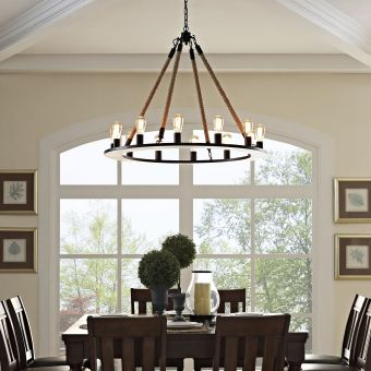 Encircle Chandelier (Brown)