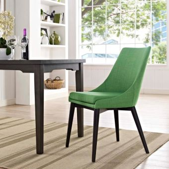 Viscount Fabric Dining Chair (Kelly Green)