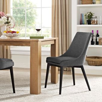 Viscount Fabric Dining Chair (Gray)
