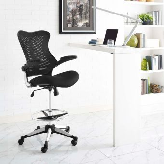 Charge Drafting Chair (Black)