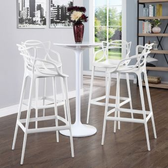Entangled Bar Stool Set of 4 (White)