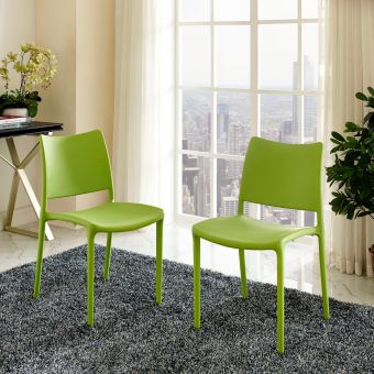 Hipster Dining Side Chair Set of 2 (Green)