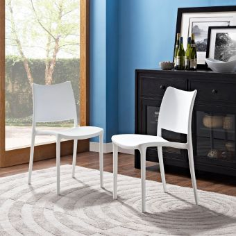 Hipster Dining Side Chair Set of 2 (White)