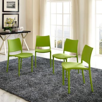 Hipster Dining Side Chair Set of 4 (Green)