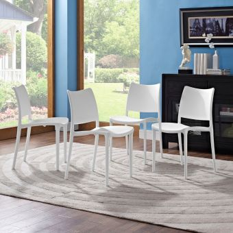 Hipster Dining Side Chair Set of 4 (White)