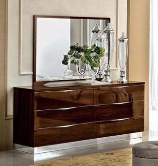 Onda Single Dresser Walnut by ESF