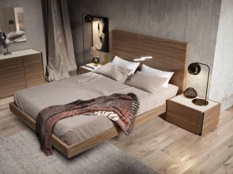 ✅ Faro Queen Size Bed Walnut | VivaSalotti.com | pic4