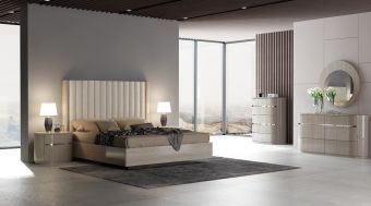 ✅ Giorgio Modern Bedroom Set, Light Maple | VivaSalotti.com | pic1