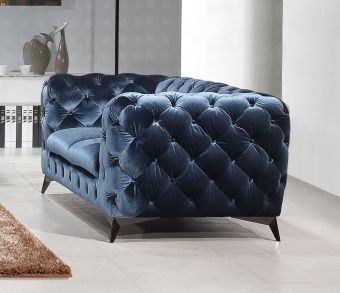 Glitz Love Seat in Blue