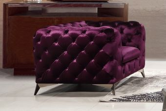 Glitz Chair in Purple