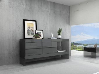 ✅ Cloud Buffet in Grey High Gloss | VivaSalotti.com | pic