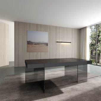 ✅ Cloud Modern Dining Table in Grey High Gloss | VivaSalotti.com | pic