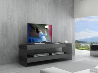 ✅ Cloud Mini TV Base in Grey High Gloss | VivaSalotti.com | pic1