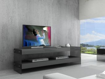 ✅ Cloud TV Base in Grey High Gloss | VivaSalotti.com | pic1