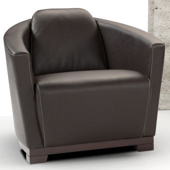 Hotel Chair in Black Italian Leather