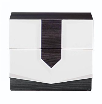 Hudson Nightstand, Zebra Grey & White HG