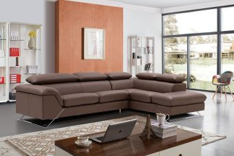 Caracas Right Sectional Full Leather by ESF