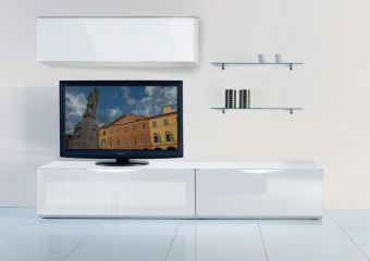 Modrest Modena MO-USA2 White TV Entertainment System