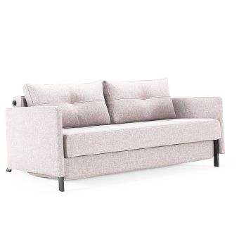 Cubed 02 Sleeper Sofa with arms, 527 Mixed Dance Natural