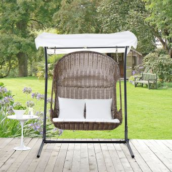 ✅ Vantage Outdoor Patio Swing Chair With Stand | VivaSalotti.com | pic