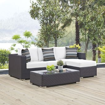 ✅ Convene 3 Piece Outdoor Patio Sofa Set | VivaSalotti.com | pic