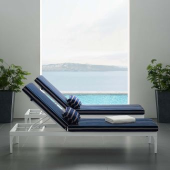 ✅ Perspective Cushion Outdoor Patio Chaise Lounge Chair   VivaSalotti.com   pic