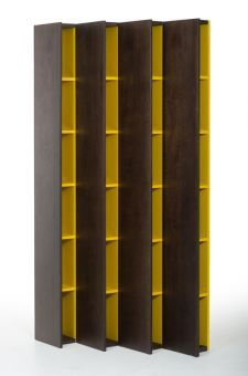 ✅ Modrest Heath Modern Brown Oak Bookcase | VivaSalotti.com