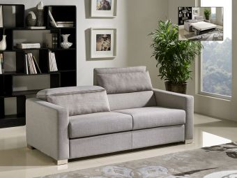 ✅ Divani Casa Norfolk Modern Grey Fabric Sofa Bed | VivaSalotti.com