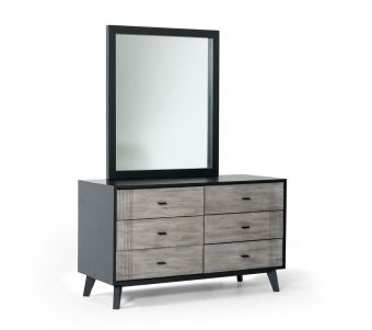 ✅ Nova Domus Panther Contemporary Grey & Black Dresser | VivaSalotti.com