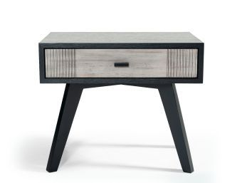 ✅ Nova Domus Panther Contemporary Grey & Black Nightstand | VivaSalotti.com | pic