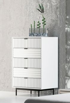 ✅ Nova Domus Valencia Contemporary White Chest | VivaSalotti.com | pic