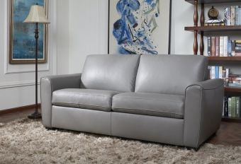 ✅ Jasper Sofa Bed in Grey Leather | VivaSalotti.com | pic2