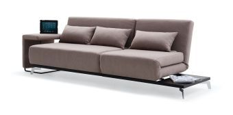 Premium Sofa Bed JH033 in Beige Fabric