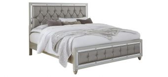 ✅ Riley Silver King Bed | VivaSalotti.com | pic1