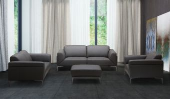 ✅ Apolo Brown Italian Leather Living Room Set by ESF | VivaSalotti.com | pic