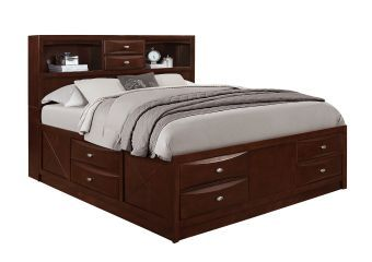 Linda Merlot King Bed