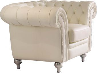 ✅ 287 Tufted Cream Chair by ESF | VivaSalotti.com | pic