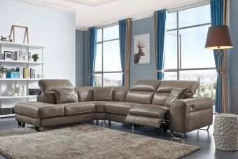 ✅ 468 Left Sectional with Electric Recliner by ESF | VivaSalotti.com | pic