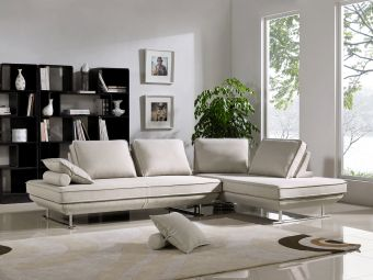 ✅ Bergamo Beige Fabric Sectional Sofa by ESF | VivaSalotti.com | pic12