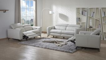 ✅ Lorenzo Sofa Set in Light Grey | VivaSalotti.com | pic