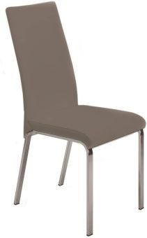 LOTO Dining Chair in Taupe Leather