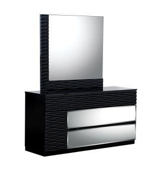 Manhattan Black High Gloss Dresser