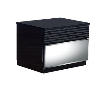 Manhattan Black High Gloss Nightstand