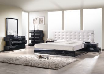 ✅ Milan Queen Size Bed in Black | VivaSalotti.com | pic1