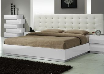 ✅ Milan Queen Size Bed in White | VivaSalotti.com | pic