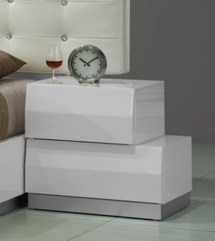 Milan Right Facing Night Stand in White
